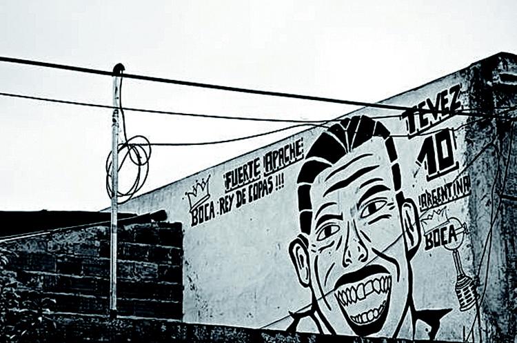 Buenos Aires Murales Carlos Tevez